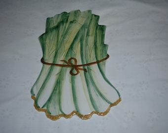 Ceramic Trivet from Italy in form of Bundle of Bok Choy?