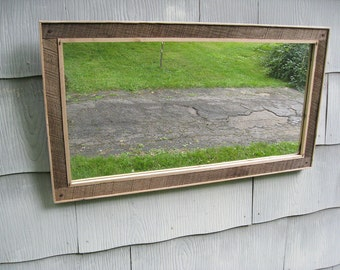 Large Rustic Barn Wood Mirror no.1618