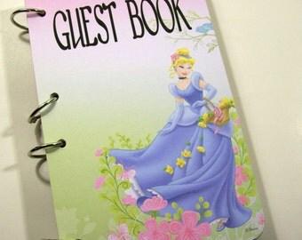 Princess Guest Book, Princess Cinderella Party, Girls First Birthday, Princess Party Book, Princess Baby Shower, Princess Sign in Book