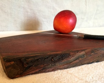 Wood Cutting Board - Serving Tray - Chopping Block - Home Decor - Natural Edge Salvaged Mesquite Wood - Personalized Gift - Wedding Gift