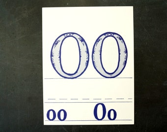 "Vintage Letters ""OO"" Flashcard / Phonics Card, 7"" tall (c.1958) - Collectible, Altered Art Ephemera, Home Decor, and more"
