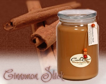 Cinnamon Stick - Scented Candles- Soy Candles -Eco Friendly - 100% Soy Wax - Fall Candles
