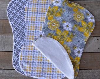 Burp Cloth Set - Baby Burp Rag - Flannel Burp Cloth Set - Baby Shower - Baby Gift - Flannel Burp Rag