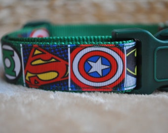 Dog Collar - Comic Book Hero -  50% Profits to Dog Rescue