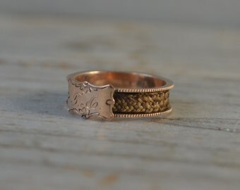 Antique Rose Gold Mourning Ring
