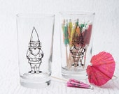 Clearance Garden Gnome Juice Glass