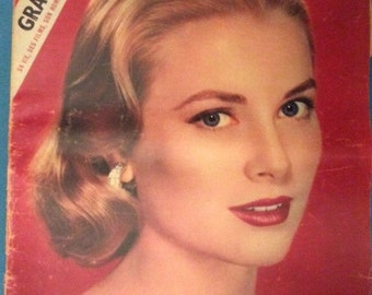 Rare Authentic Cinemonde French Magazine1956 of Grace Kelly Cinema