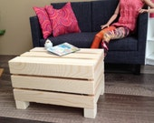 1:6 Scale Indoor/Outdoor Pallet Coffee Table for 12 inch doll Dioramas and Dollhouses
