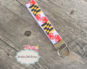 Maryland Flag Key Fob