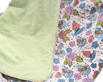 Tattoo Large Flannel Baby Blanket