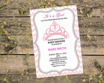 Princess Baby Shower Invitation Template