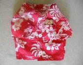 XS Tropical Print Camp style Dog Shirt