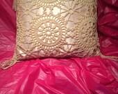 15% OFF-satin crocheted pillow small pillow weddings