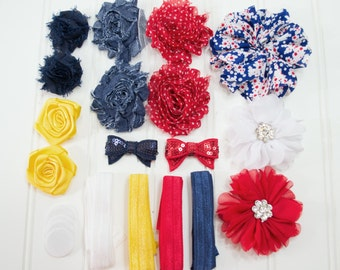 Vintage Inspirations - Riveting Headband Starter Kit - Coordinating Elastic and Flowers to create headbands for your icon