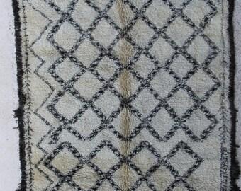 Beni Ourain BO27659   Beniourain, Beniouarain, beni ouarain  vintage berber rug  morocco