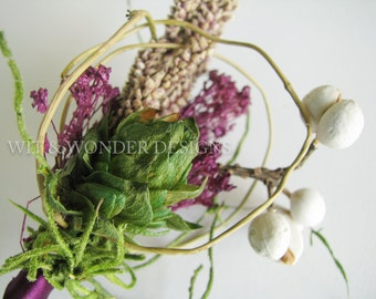 HOP CHARMING Hops Boutonniere Natural Branch and Moss