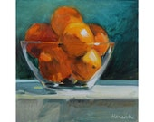 Oranges in a Glass Bowl