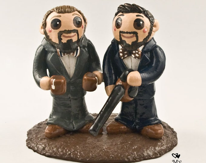 Groom and Groom Wedding Cake Topper