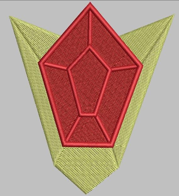 Zelda Machine Embroidery Design Goron Ruby 4x4