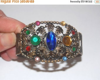 SALE Wonderful Vintage 30s Czech Jeweled Bracelet