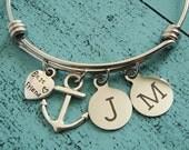 best friend gift bff gift, bff bracelet anchor, personalized sister gift, friend gift friendship bracelet, best friend bff jewelry, anchor