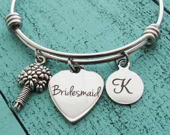 personalized bridesmaid gift, bridesmaid proposal, wedding gift for bridesmaid, bridesmaid jewelry, unique bridesmaid bracelet, bridal gift