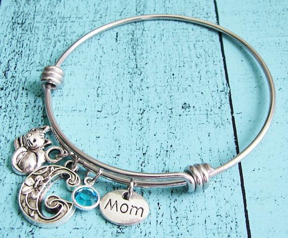 Personalized Cat Mom Bracelet