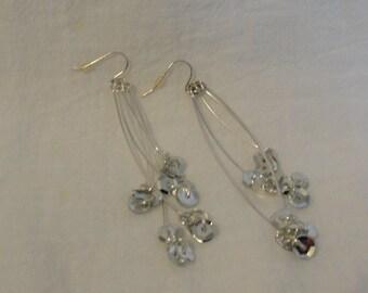 Vintage earrings, sparkles