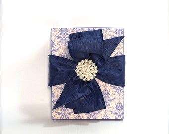 Chic Wedding Gift Box, Favors, Jewelry, Gift Cards, Mothers Day, , Bridesmaids, Handmade, Decorative Boxes Sapphire Blue, September Birthday