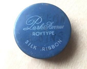 Vintage Tin Trinket Box Typewriter Ribbon Storage