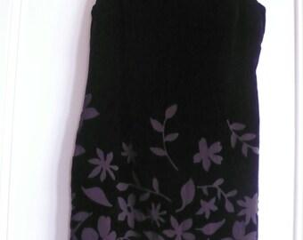 SALE 25% off Liz Claiborne midnight blue devore silk velvet dress uk 16, us 14