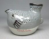 Genji Sake blowfish decanter  , marked made in japan .
