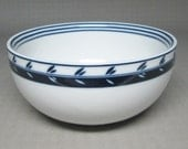 DANSK Concerto Allegro blue soup cereal bowl with a leaf decoration ONE ( 1 ) 9 available