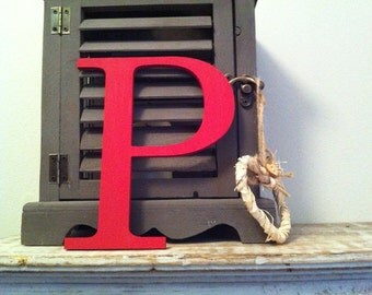 """Painted Wooden Letter - 'P' - Any Colour,  Roman Style - 20"""", Wall letter, various colours, other sizes"""