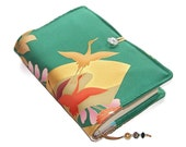 Book Cover in Vintage Kimono Silk, Bible Cover, Sunset with Flying Cranes, UK Seller, Suitable for Hardback or Paperback