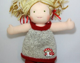 Toadstool Dress- 15 to 16 Inch Size Dolls