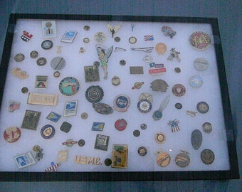69 Assorted Lapel Pins and Medals