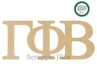 Gamma Phi Beta Greek Letters Connected- Sorority Letters, Gamma Phi Beta Letters, Gamma Greek Letters, Phi Greek Letters, Beta Greek Letters