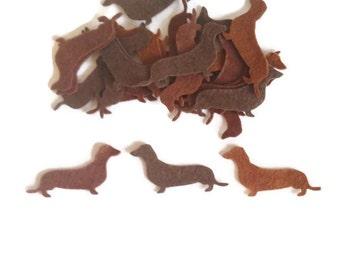 Felt animal shapes sausage dog die cut felt pre cut shapes fabric craft supplies