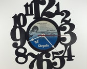 Handmade Vinyl Record Wall Clock Hanging Clock  (artist is Pat Benatar)