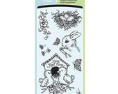 """Inkadinkado NATURE'S GARDEN Easter Clear Stamps 4""""X8"""" Sheet"""