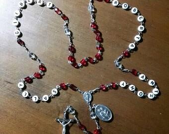 Family Name Custom Rosary - Mother's Rosary, Grandmother's Rosary, Handmade Catholic Heirloom Sacramental