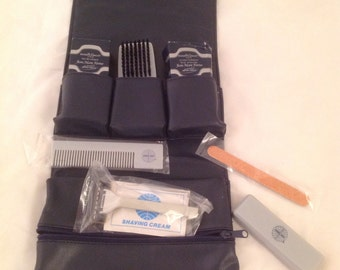 Complete Pan Am vintage airline amenity kit bag travel PAA first class toiletry