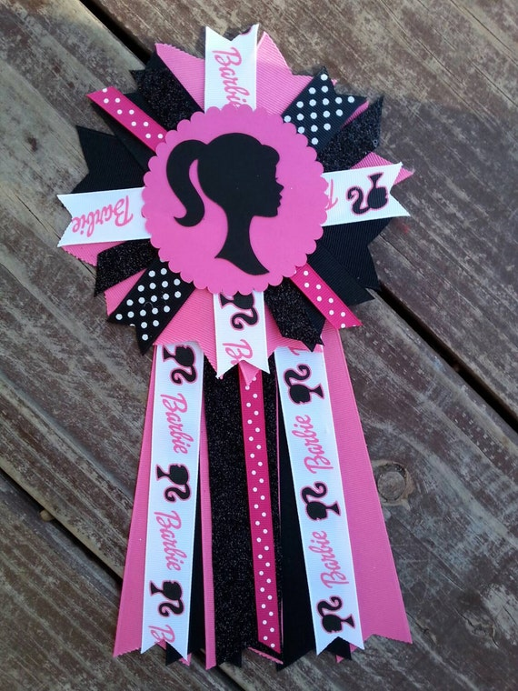 barbie baby shower pin birthday pin by bonbow on etsy