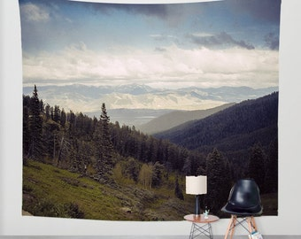 Mountains Forever Wall Tapestry, Nature Decor, Montana Tapestry, Rocky Mountain Decor, Photo Tapestry, Large Tapestry, Mountain Wall Hanging