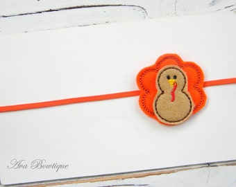 Baby Thanksgiving Headband -  Thanksgiving Headband - Turkey Headband - Baby Turkey Headband