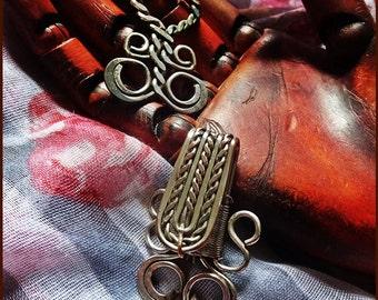 Vintage Jewelry Supplies, Vintage Garment Closures, Antique Hook & Eye, Original Priest Vestment Closer / Cloak Clip, c 1850. No: 5 Listing