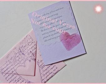 Handmade Valentine Card, Romantic Valentine, Pink Valentine Card, Original Poem, Romantic Verse
