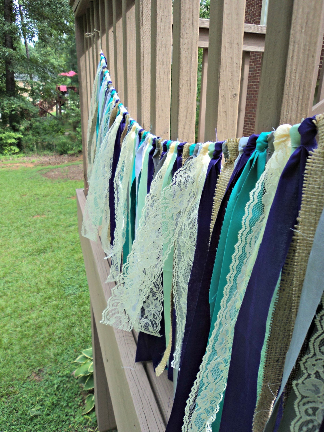 Purple And Turquoise Garland Boho Chic Decor Hippie Curtain
