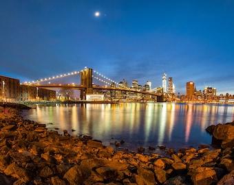 Photograph of the Brooklyn Bridge